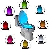 Das Nachtlicht Gadget für die Kloschüssel Lustiges LED Bewegungslicht für Toilettensitze. Badezimmerzubehörbeleuchtung Besondere Geschenke für Jungen Frauen Männer Väter Mama Großväter Partner Herren