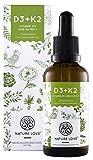 Vitamin D3 + K2 Tropfen 50ml. Premium: VitaMK7 von Gnosis 99,7% All Trans + besonders stabiles und hoch bioverfügbares Vitamin D3 (1000 IE). Flüssig, hochdosiert, hergestellt in Deutschland