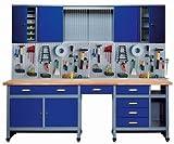 Küpper 70412–7 Set für Werkstatt, 240cm, hergestellt in Deutschland, Farbe: ultramarin