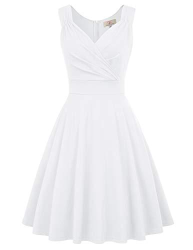 cocktailkleid v Ausschnitt Elegante Kleider Weihnachten Petticoat Kleid 50er Jahre Swing Kleid CL698-7 XL
