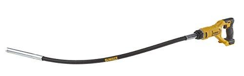 Dewalt 18 Volt Akku-Betonverdichter (0 - 15.000 min-1 Schwingungen, 28,6 mm Vibrationsdurchmesser, 1,2 m flexibler Gummischaft, Lieferung ohne Akku und Ladegerät) DCE531N