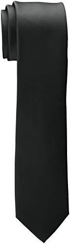 ESPRIT Collection Herren 998EO2Q801 Krawatte, Schwarz (Black 001), One Size (Herstellergröße: 1SIZE)