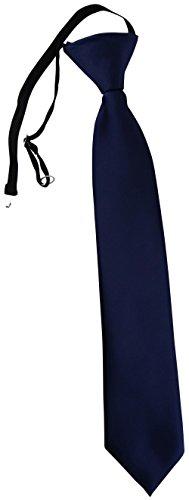 TigerTie Security Sicherheits Krawatte in dunkelblau Uni einfarbig - vorgebunden Gummizug