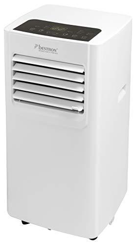 Bestron Mobile Klimaanlage, Klimagerät für Räume bis 28m², Kühlleistung 2,1 kW mit umweltfreundlichem Kühlmittel, 7.000BTU/h, Farbe: weiß