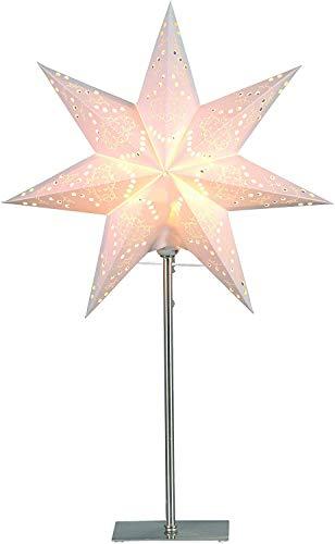Best Season Standleuchte Stern'Sensy Mini 55', Metall/Papier, circa 55 x 34 cm, Vierfarb-Karton, crème 234-22