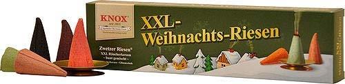 KNOX - Räucherkerzen - XXL Weihnachtsriesen - Zwetzer Riesen - inklusive Glimmschale