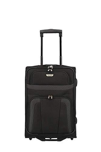 travelite ORLANDO Handgepäckkoffer, Reisetrolley 2-Rad S (53 cm), Schwarz; Rollkoffer erfüllt IATA-Bordgepäckmaß für Handgepäck, mit Schloß