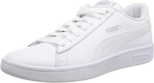 Puma Smash v2 L, Unisex-Erwachsene Sneakers, Puma White-Puma White, 43 EU (9 UK)