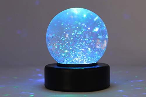 Playlearn Glitzer Schnee Ball mit LED Leuchte