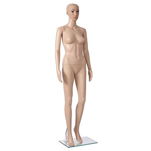 SONGMICS weibliche Schaufensterpuppe frau Schaufensterfigur fashion Doll MPLM07