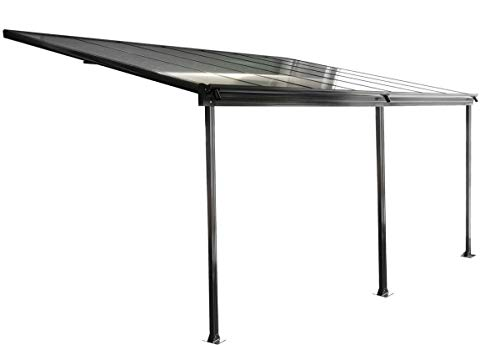osoltus Aluminium Terrassenüberdachung Terrassendach Veranda grau