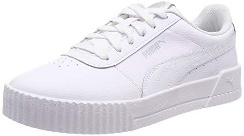 Puma Damen Carina L Sneaker, Weiß (Puma White-Puma White-Puma Silver), 39 EU