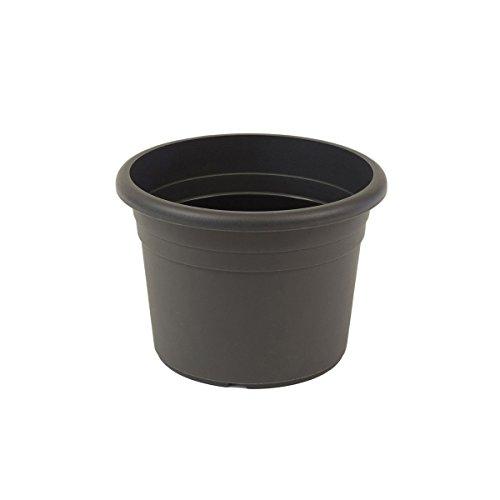 greemotion Pflanzkübel Fiona Anthrazit-Grau - Blumentopf 40cm - 22L Blumenkübel rund - Übertopf UV-beständiger Kunststoff - Pflanztopf frostsicher - Pflanzgefäß mit Bodenlöchern - Pflanzen-Zubehör