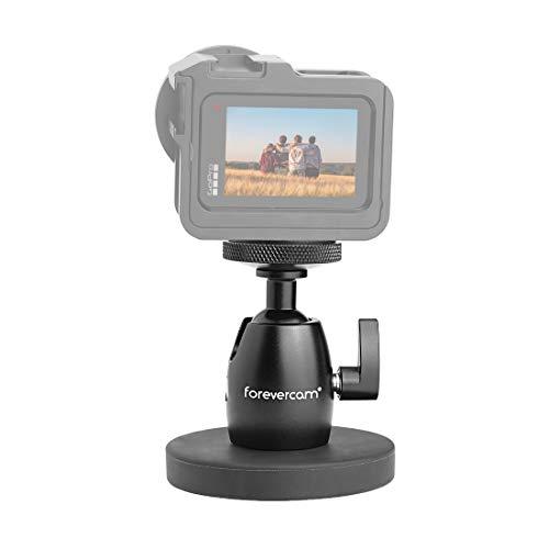 Forevercam Magnetkamerahalterung und Magnetkamerastativ Magnetfuß Nootle Mini-Kugelkopf Hochleistungsmetall Zum sicheren Befestigen an Stahl oder Anderen magnetischen Oberflächen