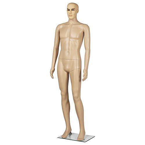 Yaheetech Schaufensterpuppe männlich Schaufensterfigur Mannequin Puppe Mann
