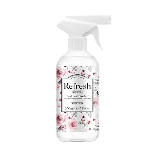 Refresh – Textilerfrischer mit Zink Ricinoleat 250ml (Teddy Fresh) – Beseitigt Gerüche auf natürliche Weise, frischer Wäscheduft