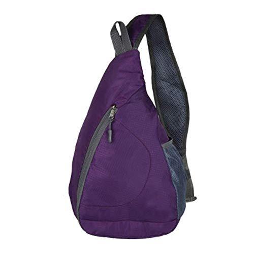ADSBB Outdoor Sport Eine Schulter Faltbare Brust Tasche Reiserucksack Wanderrucksack Handy BagRucksäcke violett