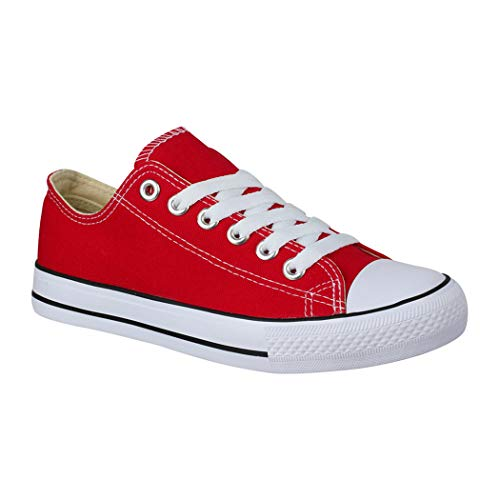 Elara Unisex Sneaker Low top Turnschuh Textil Chunkyrayan 36-46 A-YD3230-Rot-42