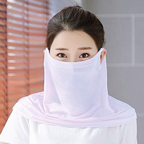 Masken Frauenhals Sonnenschutz Big Lätzchen Eisseidenmaske Mode Tüll Sonnenschirm Staubdichte Light Purple 3pcs Light Purple 3pcs
