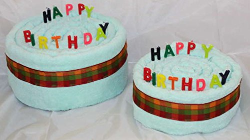 S.B.J - Sportland Handtuchtorte/Geburtstagstorte Happy Birthday, Farbe Mint, Gr. L