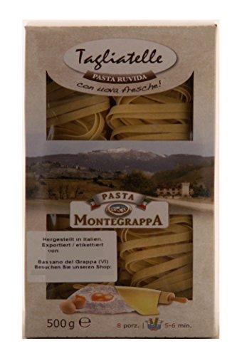 Pasta Montegrappa Tagliatelle con uova fresche 20% 8 x 500g = 4000g Eierteigwaren.