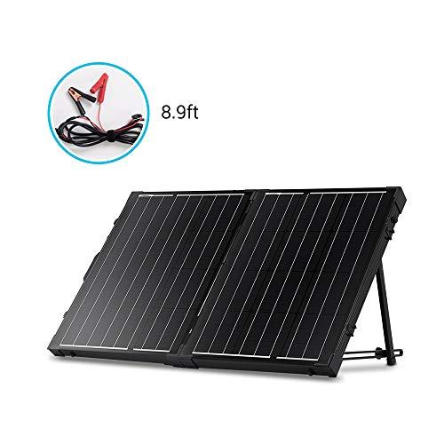 Renogy 12V Solarkoffer 2 x 50W (Ohne Laderegler)Solar Modul Zelle 100W Solarpanel Wohnmobil Solarmodul Solarzelle Camping Garten mit schwarzem Rahmen