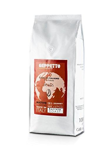 Barista Italiano Robusta von Geppetto Kaffeebohnen 1kg Verpackung italienischer Caffè Espressobohnen