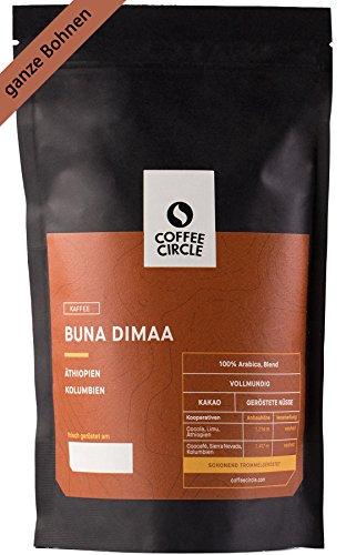 100% Arabica Blend Coffee Circle Premium Kaffee Buna Dimaa mit 350g ganzen Bohnen