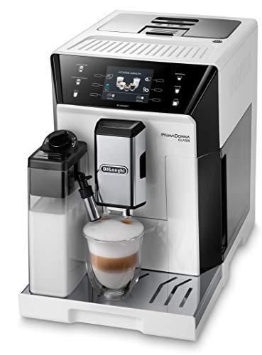 De'Longhi PrimaDonna Class ECAM 556.55.W – Kaffeevollautomat mit integriertem Milchsystem, 3,5'' TFT Touchscreen & App-Steuerung, automatische Reinigung, 36,1 x 26 x 46,9 cm, weiß