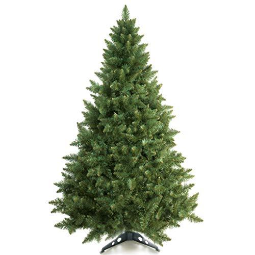 Prextex 180cm große hochwertige klappbare künstliche kanadische Fichte als Weihnachtsbaum, geringes Gewicht und leichter Aufbau mit Christbaumständer