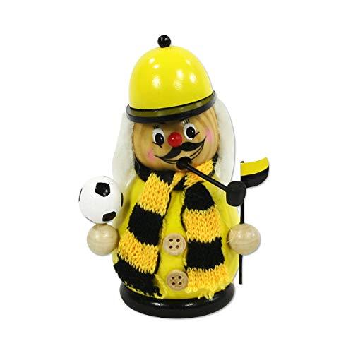 Räuchermann - Kugelfigur - Fussballer schwarz-gelb