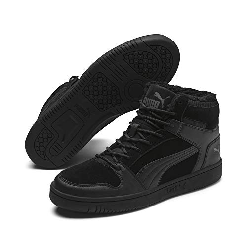 Puma Unisex-Erwachsene Rebound Layup Sd Fur Sneaker, (Puma Black-Castlerock 01), 43 EU