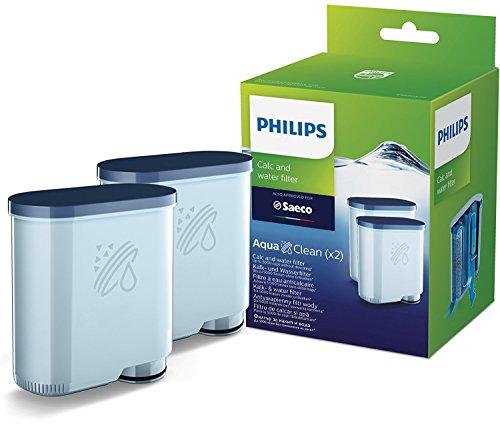 Philips Kalk CA6903/22 Aqua Clean Wasserfilter für Kaffeevollautomaten, Doppelpack, Kunststoff