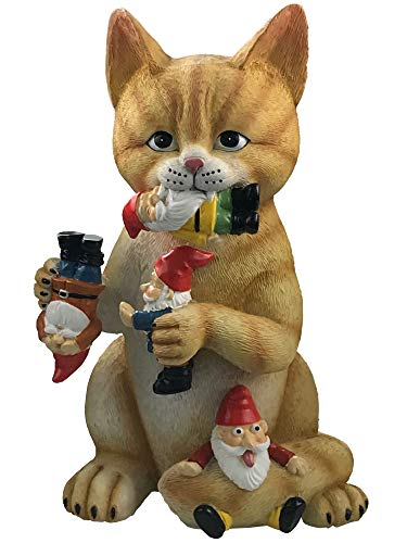 By Mark & Margot Gartenzwerg/Gartenzwerg, Mischievous Cat One Size Mischievous Upside Down GNOME