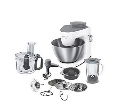 Kenwood KHH323 WH Multione Küchenmaschine, Edelstahl, 4.3 liters, Weiß