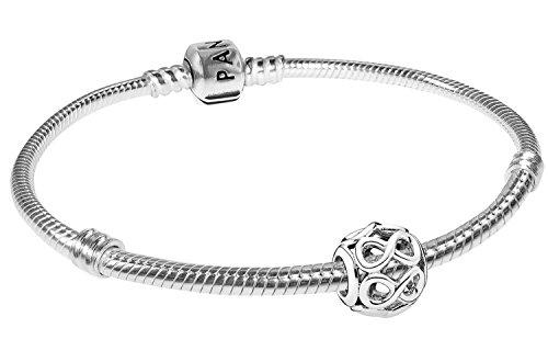 Pandora Armband Starterset Unendlichkeit zauberhafter Silberschmuck für Damen, elegante Geschenkidee für modische Frauen, 08051-20 20 cm