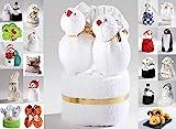 HK-Kleinmann Frottier Geschenk Set Handarbeit Origami Gästetuch Handtuch Waschhandschuh, Motiv/Art:Love Birds