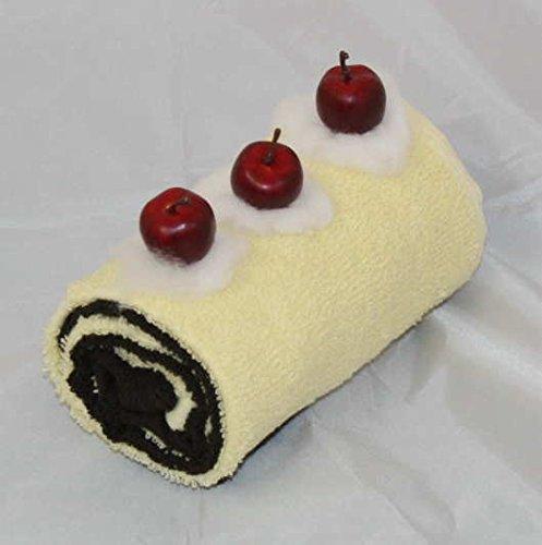 S.B.J - Sportland Handtuchrolle/Handtuchtorte, bestehend aus 2 Gästetüchern, Farbe je vanille und Schoko
