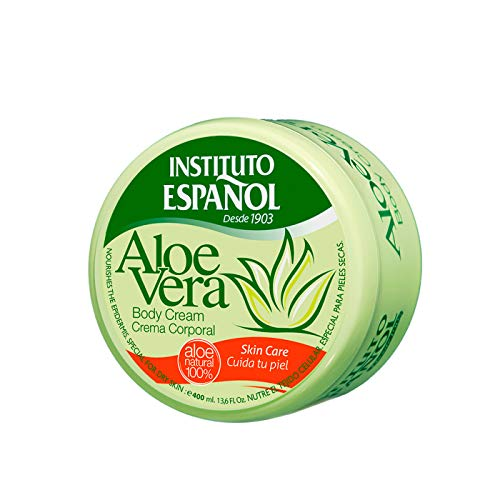 Instituto Español - Aloe Vera Körpercreme - 400 ml - 100% natürliches Aloe Vera