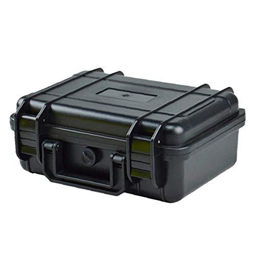 Außen Kunststoff Stoß- wasserdichte Box Airtight Überleben Aufbewahrungskoffer Container Tragebox Farbe Schwarz