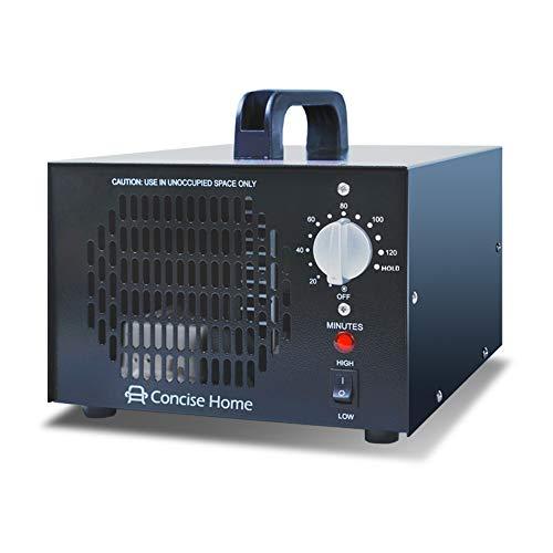 Concise Home 7000mg 03 Kommerzieller Ozonisator, industrieller Ozon Luftreiniger, schwarz, Luftverbesserer, Luftsterilisator Ozone Generator