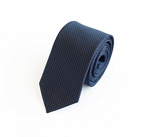 Fabio Farini - Elegante Herren Krawatte kariert in 6cm Breite in verschiedenen Farben für jeden Anlass wie Hochzeit, Konfirmation, Abschlussball Navyblau Schwarz