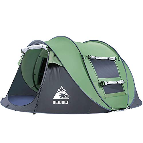 HEWOLF Wurfzelt Zelt 2-3 Personen - Pop Up Zelt -Camping Zelt - Spielzelt - Strandzelt Familienzelt Sonnenschutz Tragbar