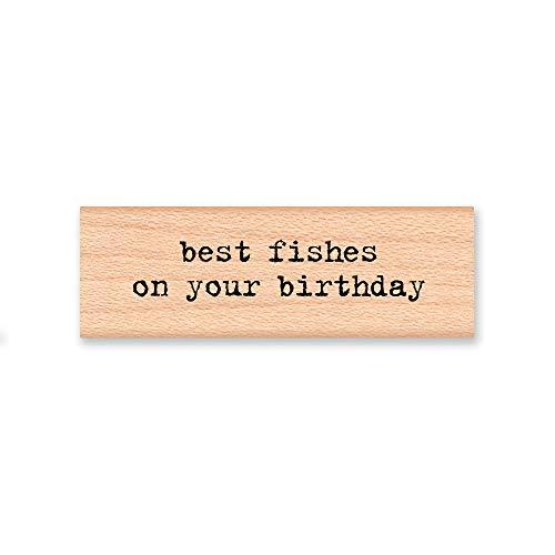 Evan332Eddie Best Fishes on Your Birthday-Gummi-Schild Geburtstagswünsche, lustiges Fisch Phrase-Holzschild