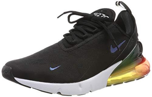 Nike Herren Air Max 270 Se Leichtathletikschuhe, Mehrfarbig (Black/Black/Laser Orange/Ember Glow 003), 43 EU