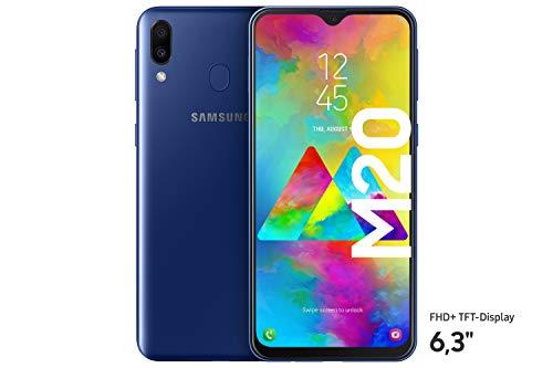 Samsung Galaxy M20 Smartphone (16.0cm (6.3 Zoll) 64GB interner Speicher, 4GB RAM, Ocean Blue) - Deutsche Version [Exklusiv bei Amazon]