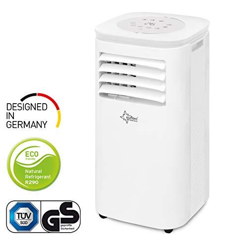 Mobiles lokales Klimagerät Impuls 2.6 Eco R290 | für Räume bis 80 m3 (34 m2) | inkl. Abluftschlauch | Kühler und Entfeuchter mit ökologischem Kühlmittel R290 | 9.000 BTU/h | Suntec Wellness