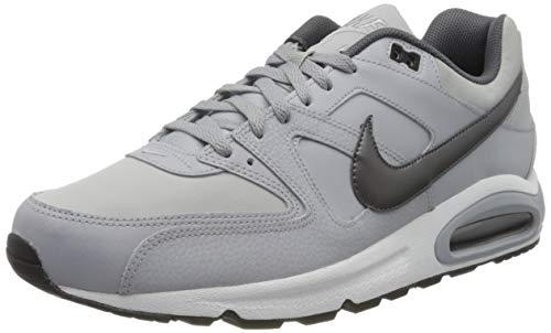 Nike Herren AIR MAX Command Leather Laufschuhe, Grau (Wolf Grey/MTLC Dark Grey/Black/White 012), 44.5 EU