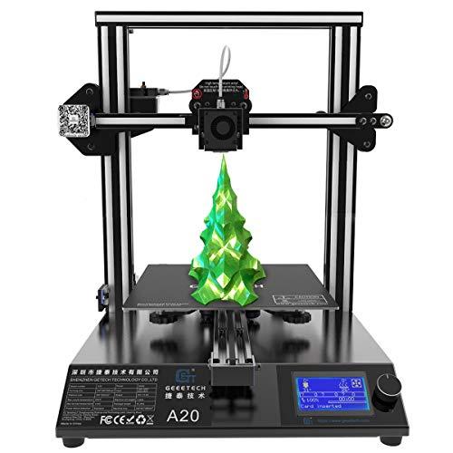 GIANTARM Neuer Geeetech A20 3D. Drucker mit Großem Druckraum: 255 * 255 * 255mm und Power Failure Recovery, Gute Haftung auf dem Druckbett, Schnelle Montage, DIY Kit