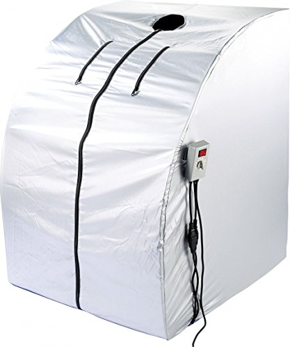 newgen medicals Mini Infrarotkabine: Portable Infrarot-Sauna V2 mit 2 Heizern, 1600 Watt (Mini Sauna)